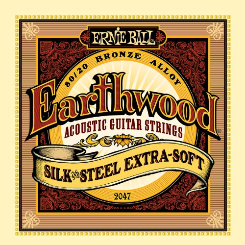 (Ernie Ball Earthwood Silk and Steel Extra Soft Acoustic Set, .010 - .050)