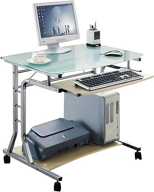 SixBros. Mesa de Ordenador Enrollable Vidrio/Arce - CT-3791A/41 ...
