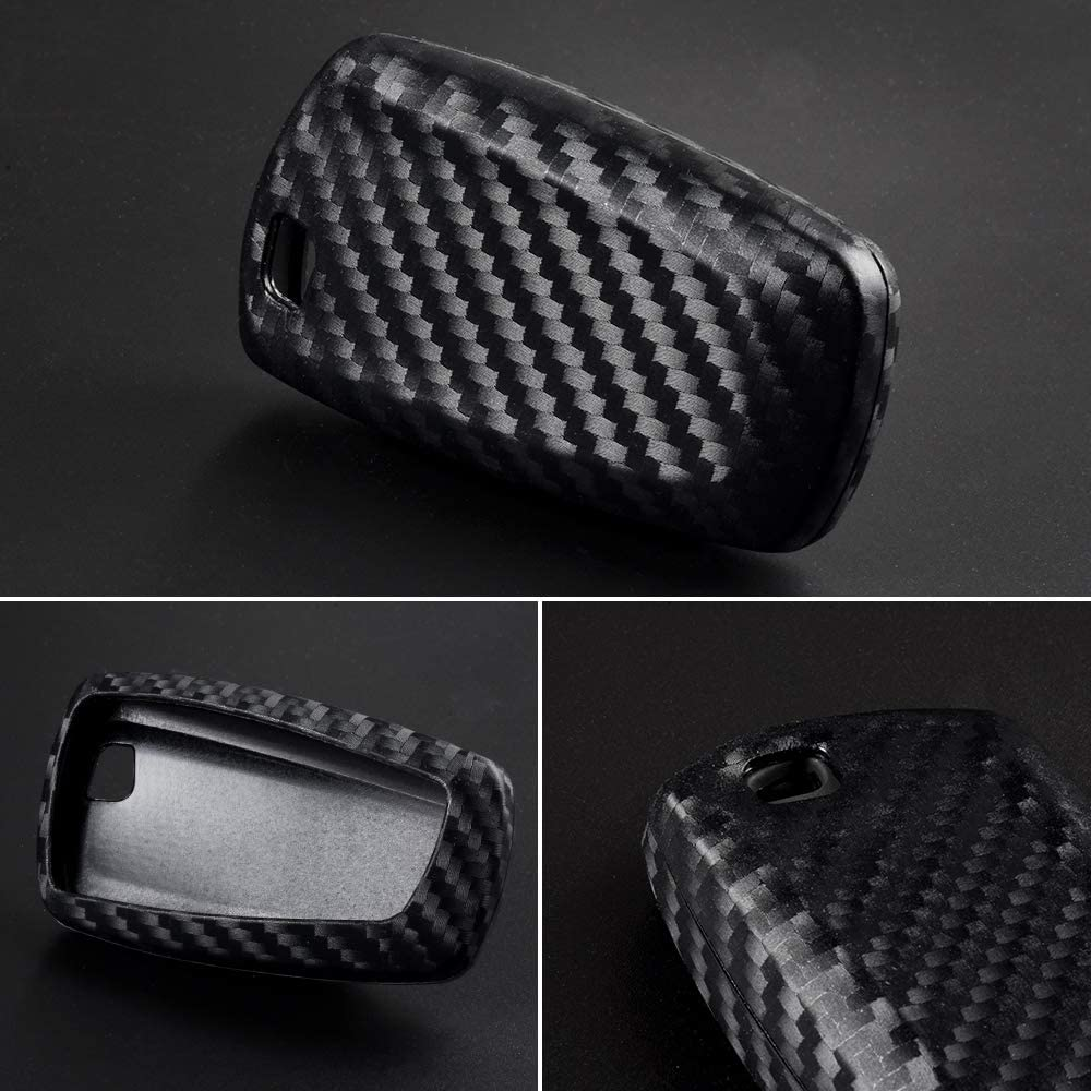 1797 Compatible Key Fob Cover for BMW Accessories 1 2 3 4 5 6 7 Series X1 X2 X3 X4 X5 X6 i3 i8 F30 G20 F10 F01 G11 F15 F16 Case Holder Car Remote Chain Ring Shell Protector Women Men TPU Slowing Silve