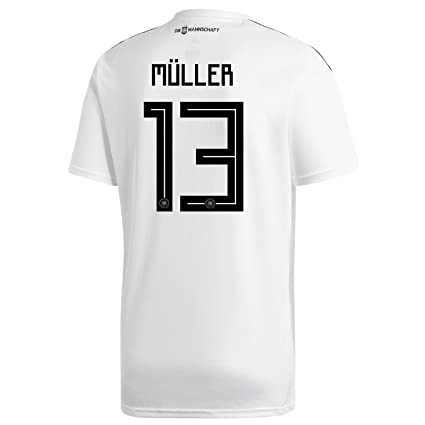 5550dfbc47f1 adidas MULLER  13 Germany Home Soccer Stadium Men s S S Jersey World Cup  Russia
