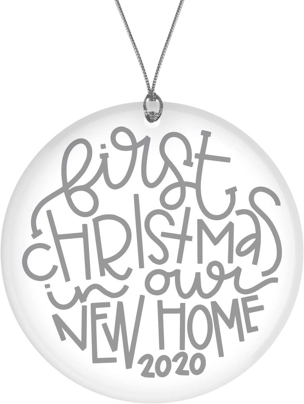 """Bad Bananas - Our First Christmas In Our New Home - 3"""" Glass Christmas Ornament - New Home Ornament 2020 - Homeowners and Housewarming Gifts"""