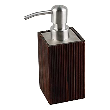 noble brown soap dispenser lottery dispenser made of wood bathroom accessories design wood - Wooden Bathroom Accessories Uk