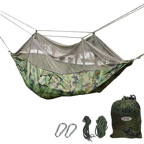 b1st dual hammock with mosquito bug   tent high strength nylon ultralight folding outdoor parachute military amazon     b1st dual hammock with mosquito bug   tent high      rh   amazon