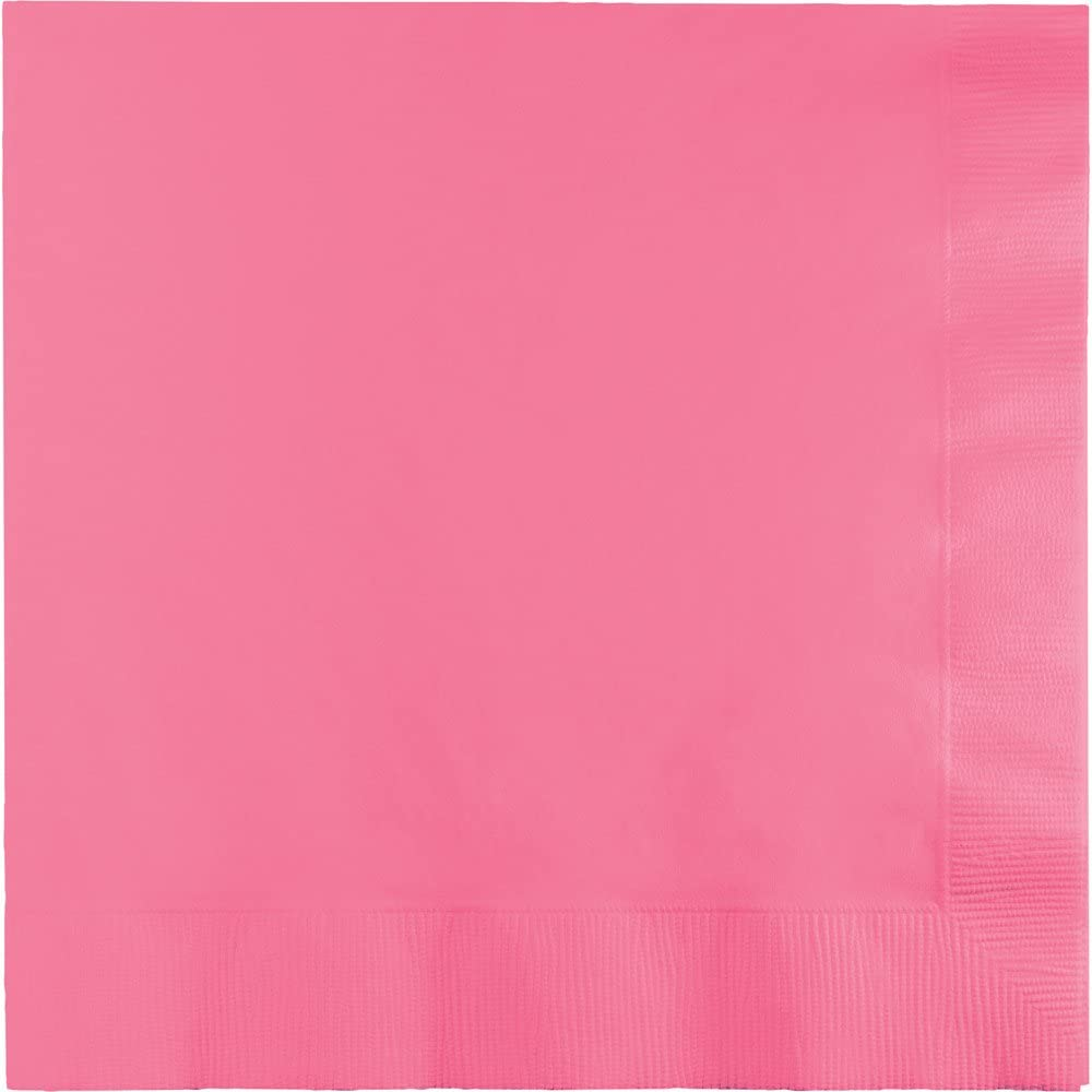 Creative Converting 240 Count Celebrations Beverage Paper Napkins, Candy Pink