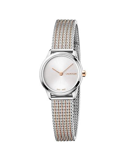 Calvin Klein Minimal K3M23B26 Reloj de Pulsera para Mujeres: Amazon.es: Relojes