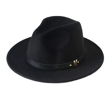 969d450239 Wool Women's Wide Brim Summer Sun Hat for Lady Chapeu Feminino Jazz Church  Fedora Cap Panama