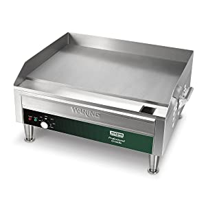 Waring Commercial WGR240X Electric Countertop Commercial Griddle, Stainless Steel