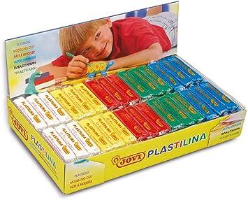 Jovi Caja de plastilina, 30 Pastillas 50 g básicos, 6 x 5 Colores (70B): Amazon.es: Juguetes y juegos