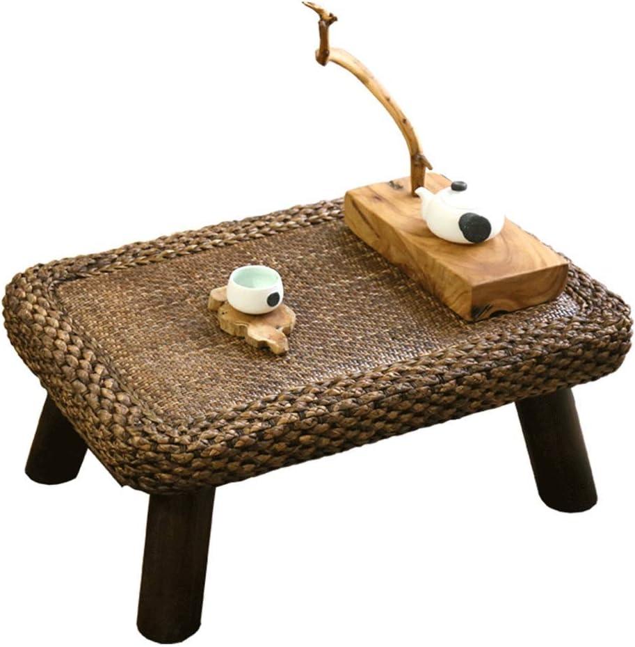コーヒーテーブル小テーブルストロー小茶テーブル小ダイニングテーブルシンプルな竹とねずみのテーブル畳のプラットフォームローテーブル水仙のねずみコンピュータテーブル