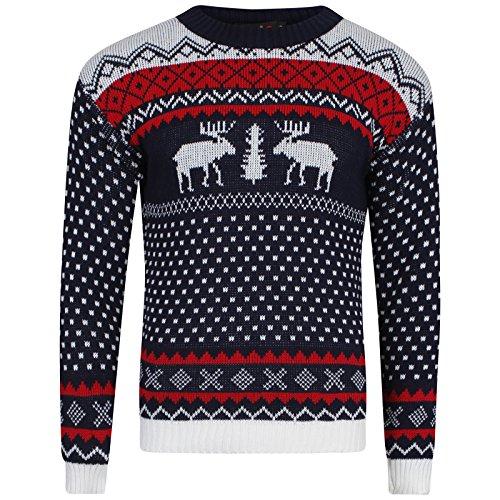 Femme Double White Online Pull Reindeer Shop Navy Evw7Tqq