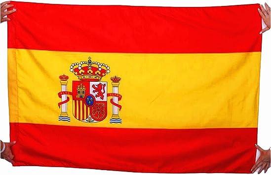 Bandera de Francia/Alemania/Inglaterra/Italia/España/Bélgica, 144 x 96 cm, tejido 100 % poliéster, color - Espagne, tamaño 144*96cm: Amazon.es: Deportes y aire libre