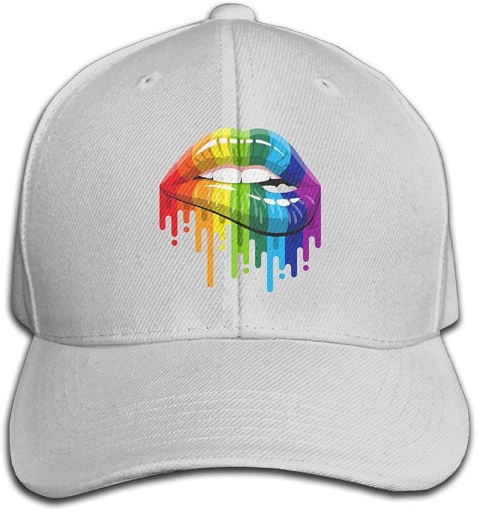 Gay Homosexual Lesbiana Arco Iris Labios Orgullo Snapback Sandwich ...