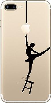 Matop Coque Compatible/Remplacement pour iPhone 8 Plus/iPhone 7 Plus transparente Anti Choc TPU de Protection Housse Étui Mignon Chat Souple Housse ...