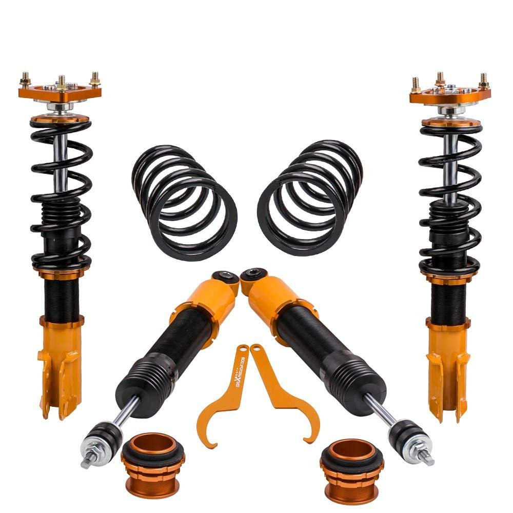 Performance Coilovers w//Camber Plates for Ford Mustang 4th Gen Damper /& Height Spring Shock Strut 1994-2004 Adj