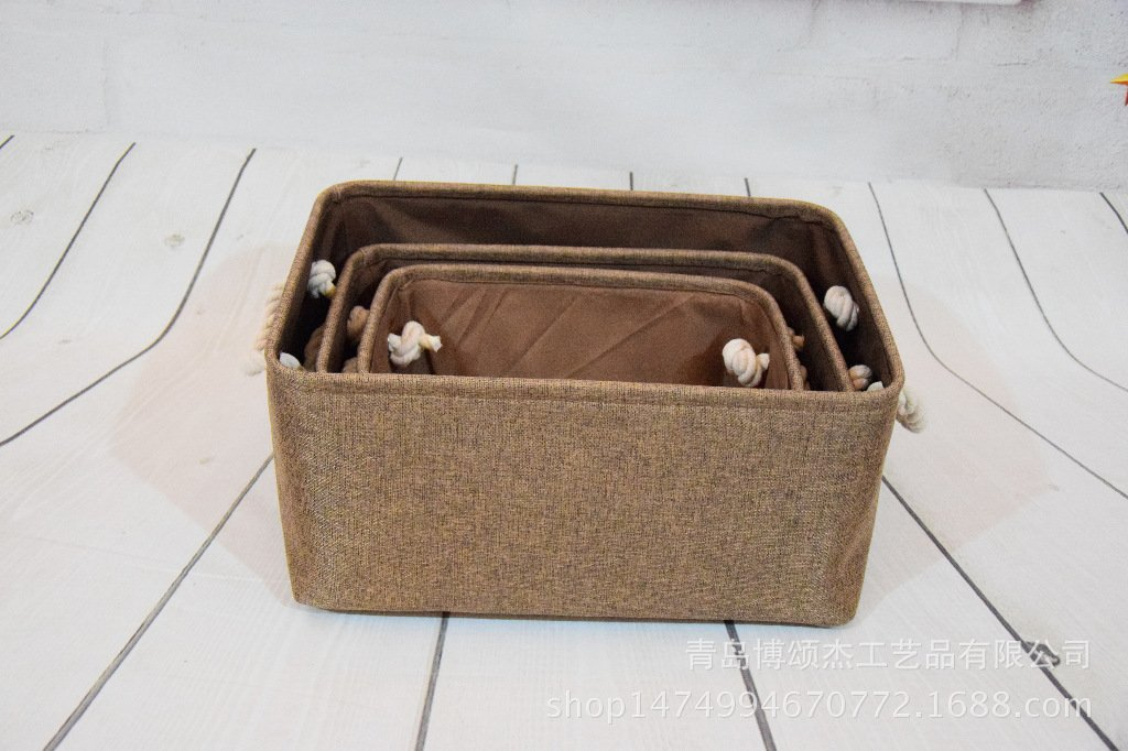 ... Cestas Plegables de la Tela Cubos Lindos con Las manijas Dobles de la Cuerda del algodón para los Juguetes Toallas de Libros(Gris): Amazon.es: Hogar