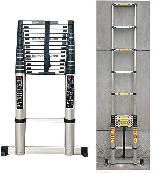 Escalera Telescópica/Escaleras Extensibles Escalera Plegable 5M / 16.5ft Telescópica Con Soporte De Aluminio Extensible Bar- Extensión Escaleras Portátiles Cubierta Al Aire Libre - 330lbs De Capacidad: Amazon.es: Bricolaje y herramientas