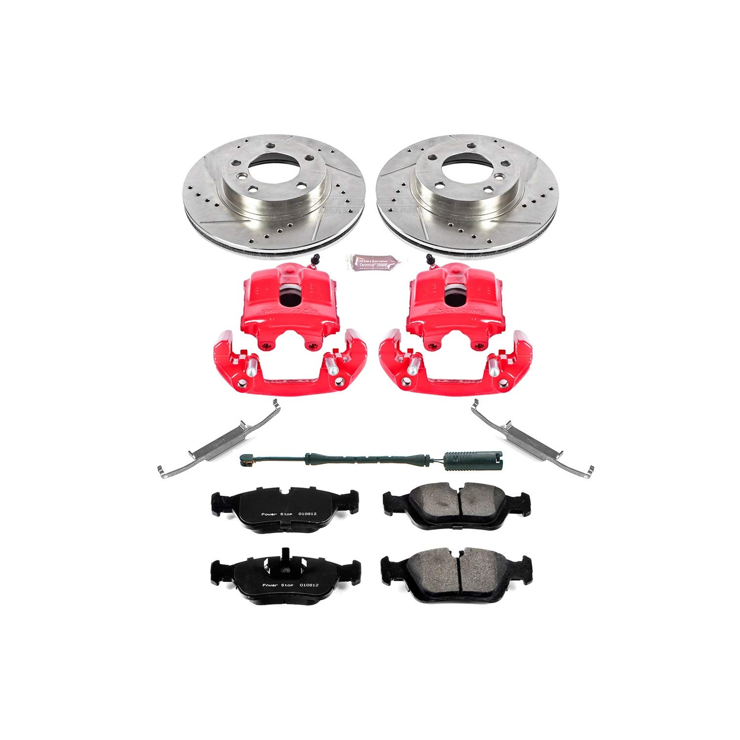 Front Only Power Stop KC496 1-Click Performance Brake Kit with Calipers