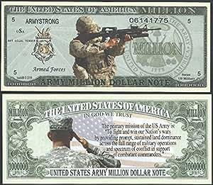 Amazon.com : Us Army Mission Million Dollar Bill Lot of 2