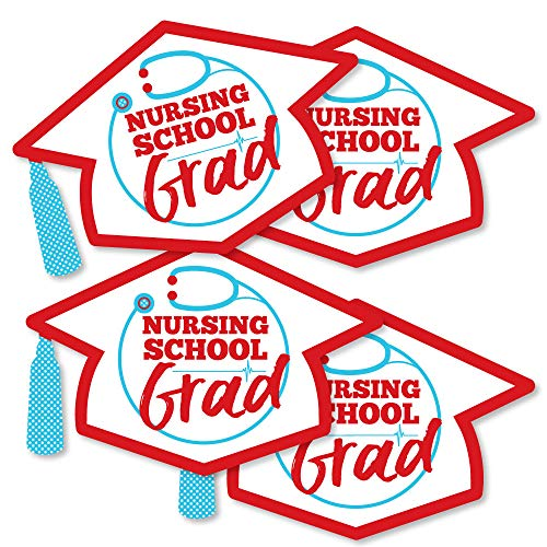 Nurse Graduation - Grad Cap Decorations DIY Medical Nursing Graduation Party Essentials - Set of 20