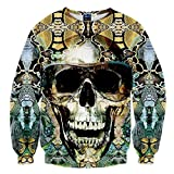 Chiclook Cool Chic Harajuku Unisex Hipster Fashion Snake Skull 3D Sweatshirt Print Hip Hop Hoodies Pullovers Clothes