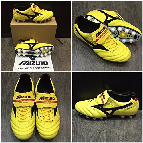 Mizuno MORELIA II (Yellow/Black/Red P1GA 140145 MIJ)-Version