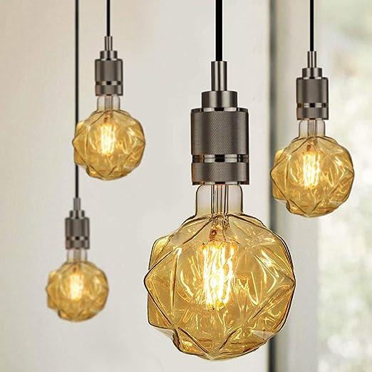 TIANFAN Bombillas LED 4 W Vintage Bombillas Filamento LED Bombilla Decorativa 220/240V E27 Golden