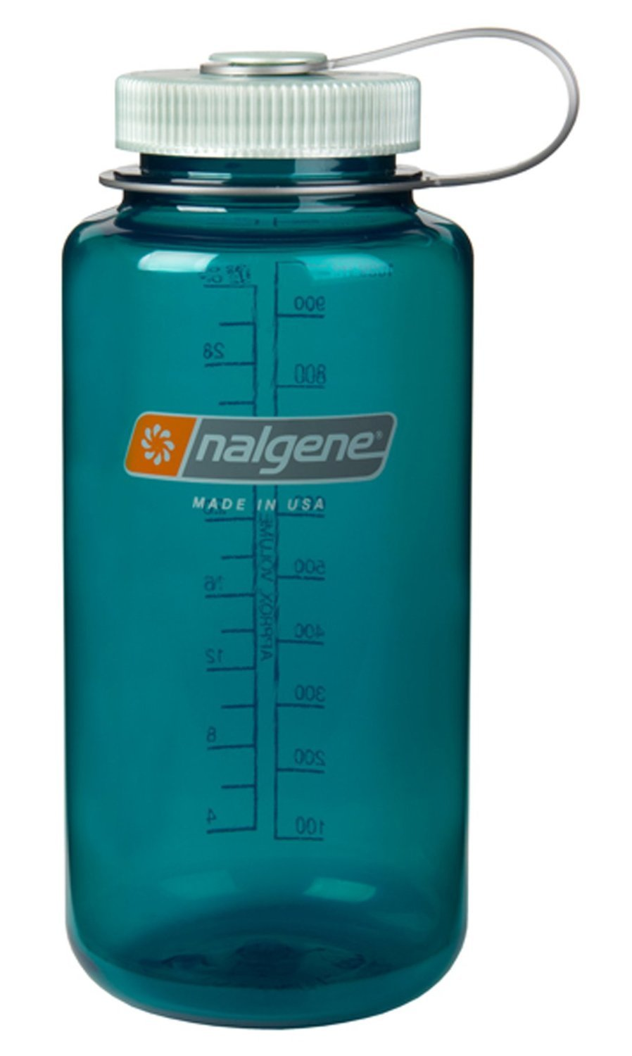 Trout Green w  Silver Top Nalgene Everyday Triton Wide Mouth 32oz Bottle  2 Pack