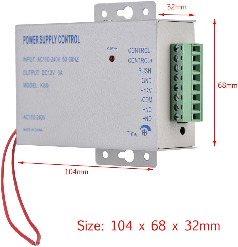 entr/ée AC110V-240V Sortie DC 12 V 3 A 30 W Contr/ôleur dalimentation pour syst/ème de contr/ôle dacc/ès de porte Alimentation pour acc/ès /à la porte
