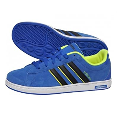 first rate 0849e ab0f2 Kids Adidas Suede Blue, Black, Lime NEO Derby K Running Trainers  GirlsBoys, shoe, gym, UK SIZE 11.5-5.5 (UK 5US 5.5EU 38) Amazon.co.uk  Shoes  Bags