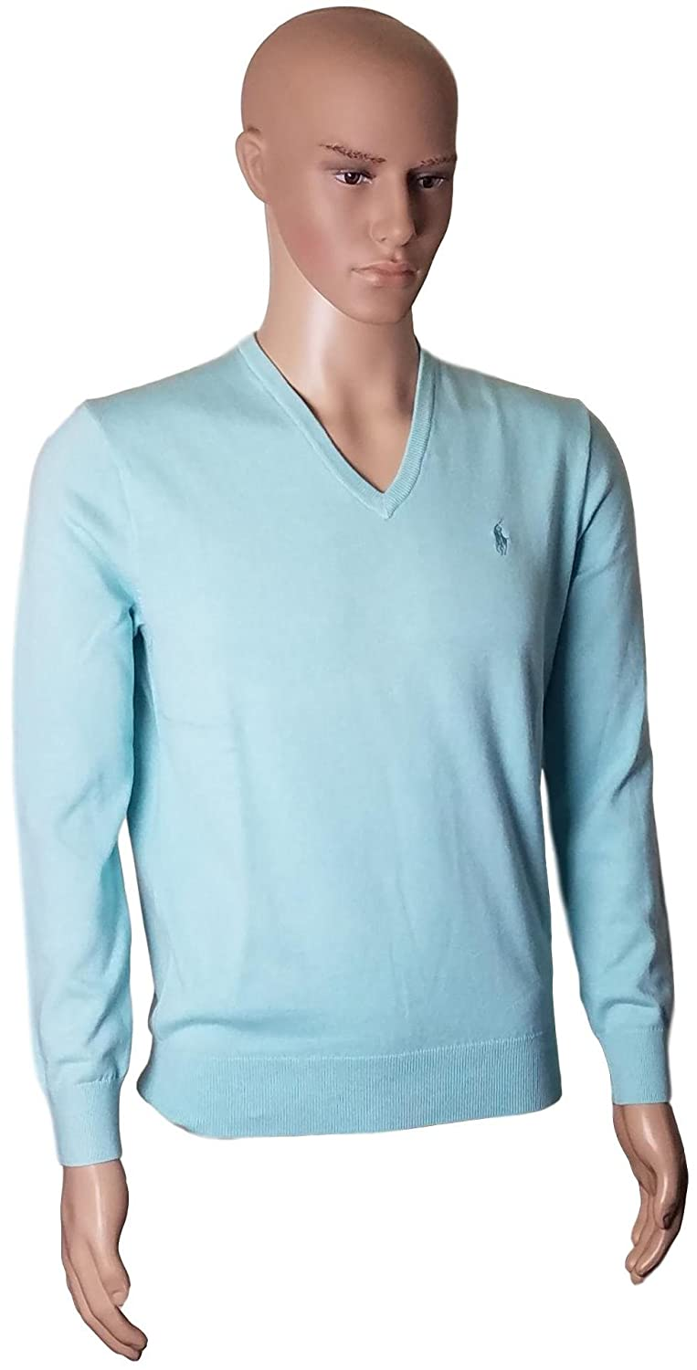 Ralph Lauren Men\u0027s Polo V-Neck Pima Cotton Pony Logo Sweater at Amazon  Men\u0027s Clothing store: Pullover Sweaters