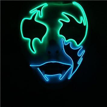 PromMask Mascara Facial Careta Protector de Cara dominó Frente Falso Máscara de Resplandor de luz fría