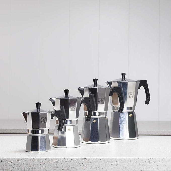 Ideal para 9 tazas de caf/é. Cecotec cafetera italiana Mimoka 900 Black fabricada en aluminio fundido de alta calidad para hacer caf/é con el mejor cuerpo y aroma