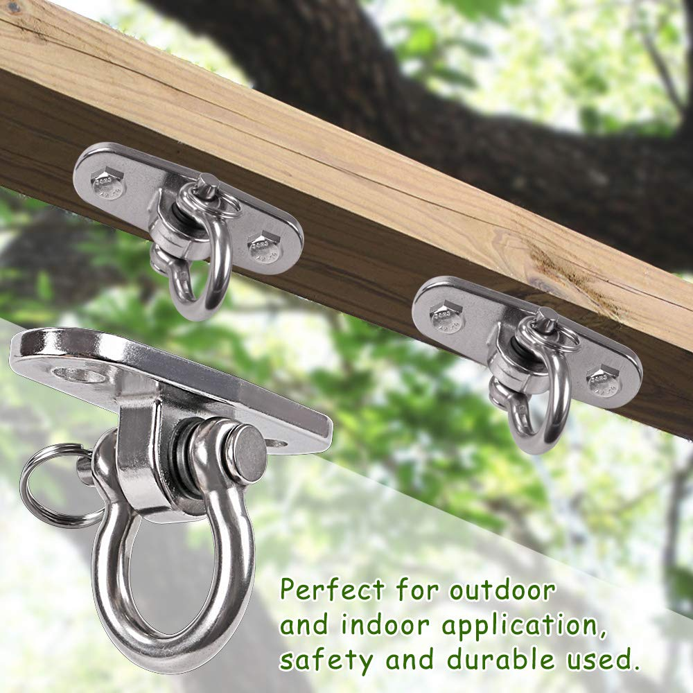 Ceiling Wall Mount Hook Anchor Hanger 4 Screw /& Drill Bit for Wood Porch Swing Hanging Kit Hanging Yoga IOH Heavy Duty Swing Hanger of Stainless Steel 1000lb Capacity Swing Set Indoor Outdoor