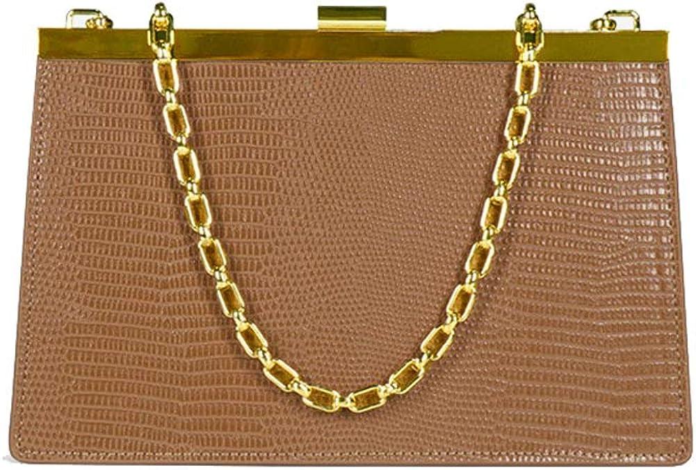 Borsa a tracolla in tessuto sintetico PU, piccola borsa quadrata con fibbia in metallo Borsa a tracolla, adatta per lo shopping Brown