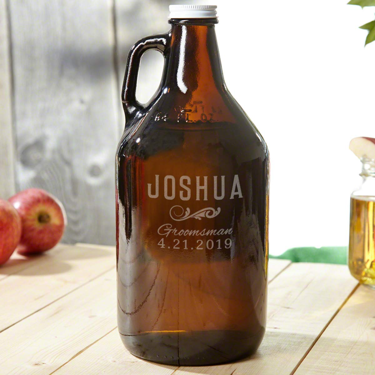 Classic Groomsmen Custom Beer Growler (Personalized Product)