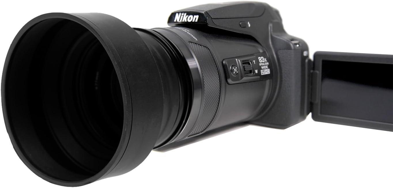 Rubber Collapsible Design Panasonic DC-FZ80 Digital Lens Hood 55mm