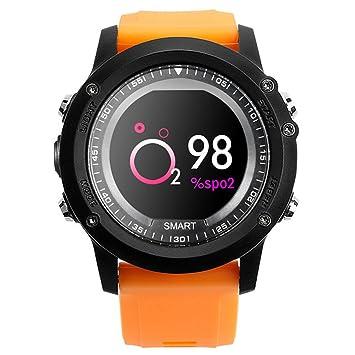 Relojes Inteligentes T2 Pulsera Inteligente Podómetro IP68 Deportes A Prueba De Agua Reloj Despertador para Hombres Y Mujeres,Orange: Amazon.es: Deportes y ...