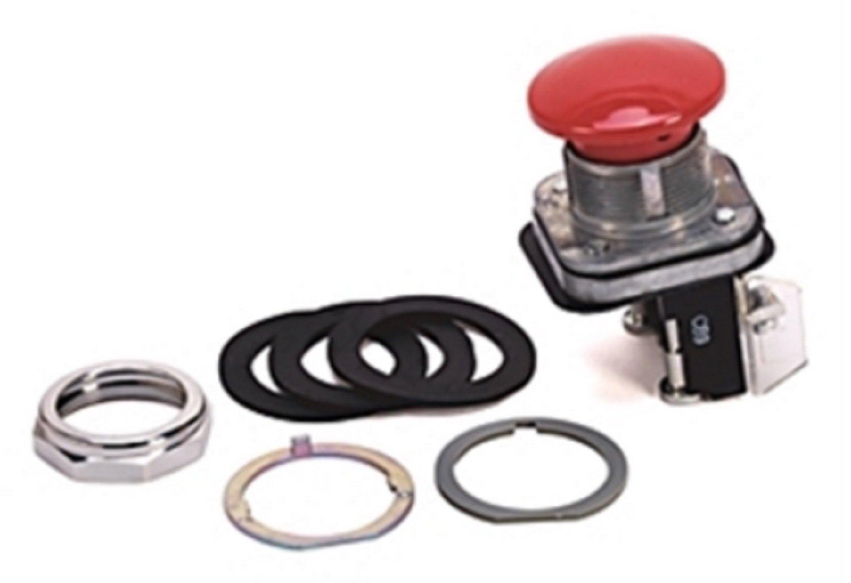 Allen Bradley 800T-D6D2 SERIES N Oiltight Red Mushroom Button Switch