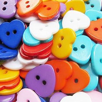 Knöpfe für Kinder Kunststoff farbig