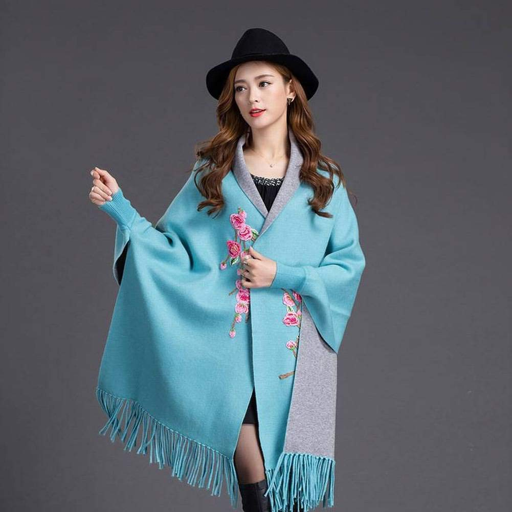 blueegreen WJL Sweet Tassel Wool Unisex Men   Women Warmth Pure color Long Scarf Autumn and Winter Outdoor MultiFunctional Fgreyion Trend Wild Warm Shawl Scarf Gift