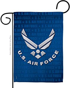 Breeze Decor US Air Garden Flag Armed Forces USAF Official Licensed United State American Military Veteran Decorative, 13