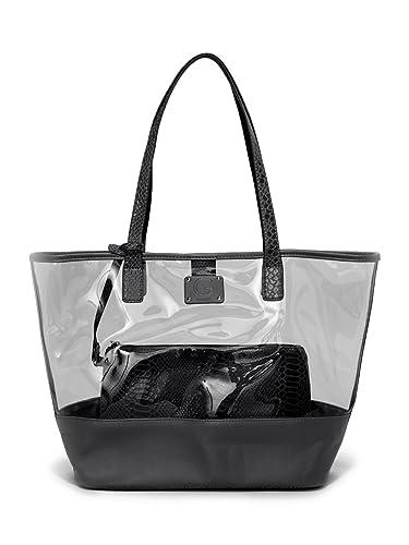 518e7a3f5315 Amazon.com  G by Guess Purse Hand Bag   Wristlet Clear Black Transparent  Tote Sunshine 2 Piece Set  Shoes