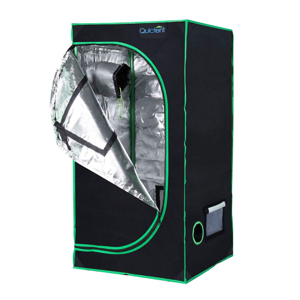 Quicent 2×2×4 - SGS Approved Eco-friendly Reflective grow Tent