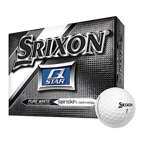 Srixon Q-Star Spin Skin Technology All-Ability Pure White Golf Balls, 6 Dozen by Srixon (Image #1)
