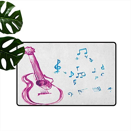 Alfombrilla para Puerta de Guitarra, diseño de Ritmo y melodía con ...