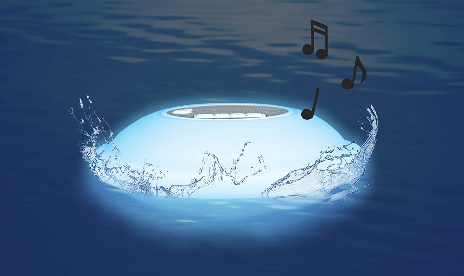 Pool master portable floating waterproof multi-light speaker