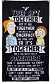 """Calhoun Rick and Morty Indoor Wall Banner (30"""" by 50"""") (Morty Rant)"""