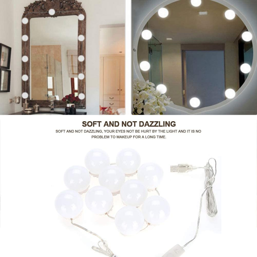 Led Mirror Light Vanity LED Maquillage Mirror Lights Dimmable Bulb C/âblage Dissimulable Cordon de Lumi/ère Chaud Froid Mirror Lights