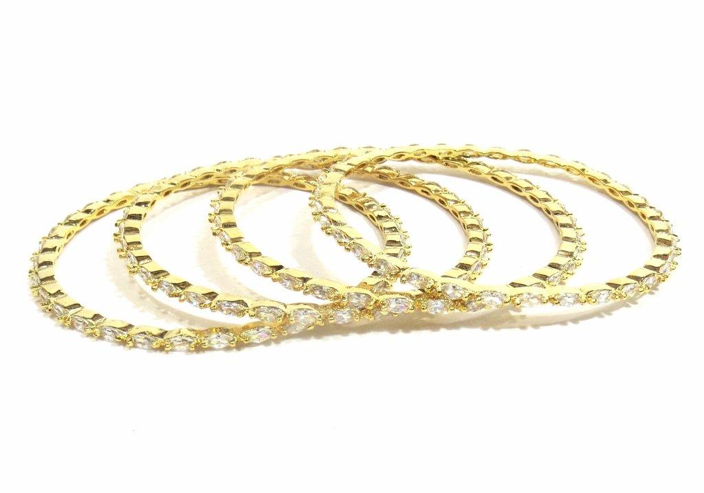 Jewelshingar Jewellery Fine Micro Plated Bangles For Girls ( 33357-jb-2.8 )