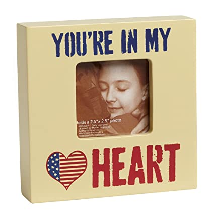 Enesco Homefront Girl by Gaby Juergens You're In My Heart Photo Frame, 4-Inch